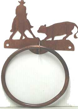 Cutting Horse Towel Ring