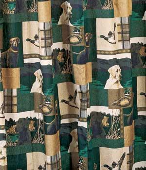 Dogs Ducks Shower Curtain