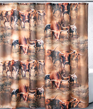 Longhorns Shower Curtain FABSH050