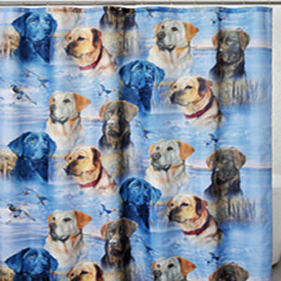 Lots of Labs shower Curtain
