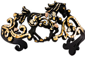 Black Hills Gold Running Horse Cuff
