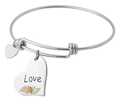 Black Hills Gold Love Bangle Bracelet