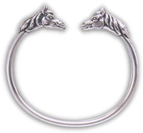Sterling Silver Double Horse Head Bracelet
