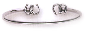 Sterling Silver Double Horseshoe Cuff