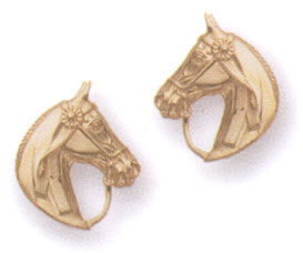14KT Gold Saddlebred Horse Head Earrings