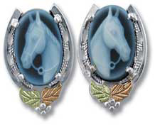 Black Hills Gold Cameo Earrings