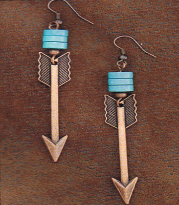 Copper Arrow Earrings