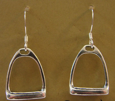 Sterling English Stirrup Irons Earrings