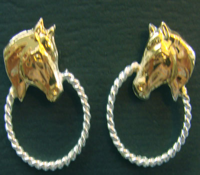 Horsehead With Hoop Earrings