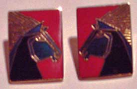 Laurel Burch Blue Stallion Earrings