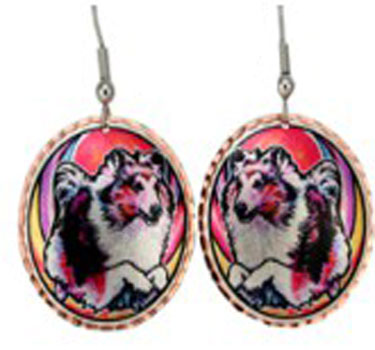 Painted Collies Earrings