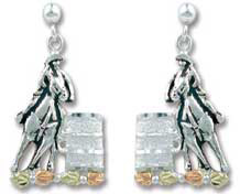 Sterling Silver Barrel Racers Post Earrings