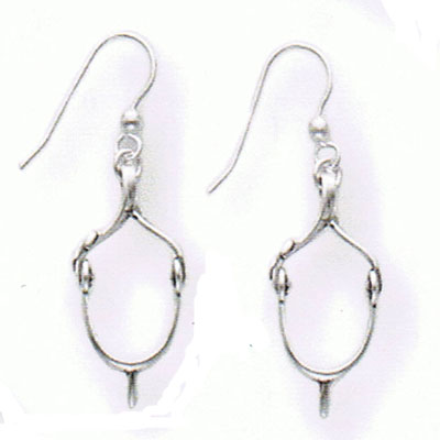 Sterling Silver English Spur Earrings