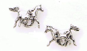 Sterling Silver Mare / Foal Earrings