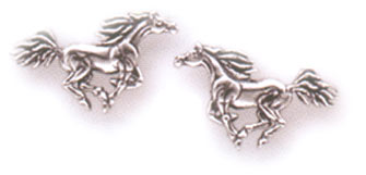 Sterling Silver Running Horses Posts