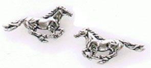Sterling Silver Running Horses Earrings