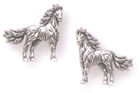 Sterling Silver Stallion Earring Posts