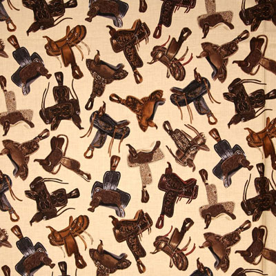 Western Saddles Fabric