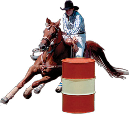 Barrel Racer Magnetic Decal