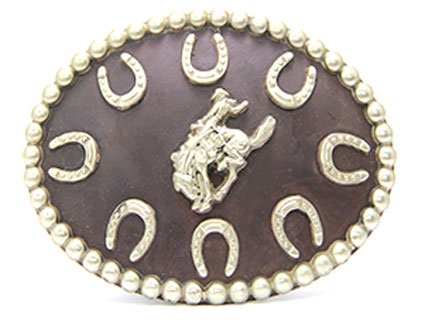 Bronze Bronco Belt Buckle