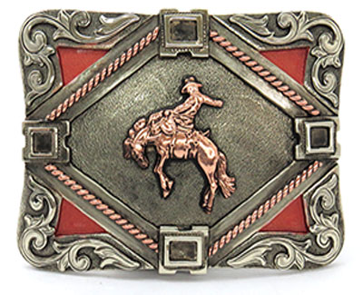 Copper Bronco Belt Buckle