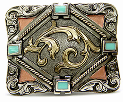 Copper/Turquoise Belt Buckle