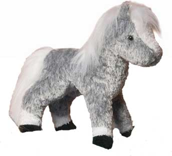 Plush Dapple Gray Pony