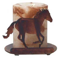 Loping Horse Candle Holder