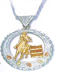 Black Hills Gold Barrel Racer Pendant