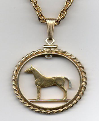 Copper/Nickel Horse Pendant