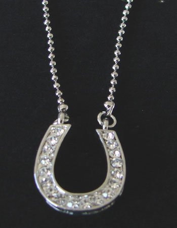 Crystal Horseshoe Pendant