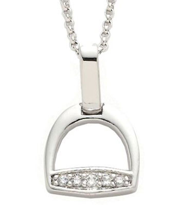 english Stirrup Iron Pendant