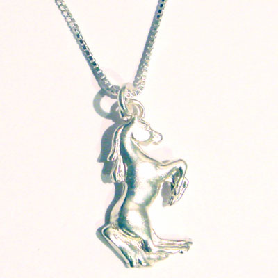 Sterling Rearing Horse Pendant