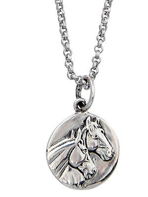 Sterling Horseheads Pendant