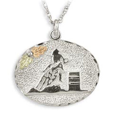 Sterling Silver Barrel Racer Medallion