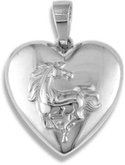 Sterling Silver Horse Locket