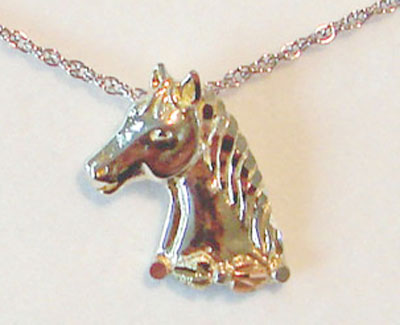 Black Hills /Sterling Horsehead Pendant