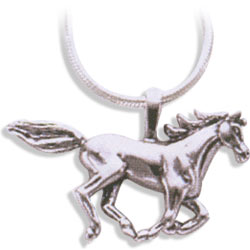 Sterling Silver Large Arabian Horse Pendant
