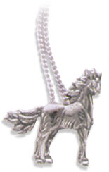 Sterling Silver Stallion Pendant