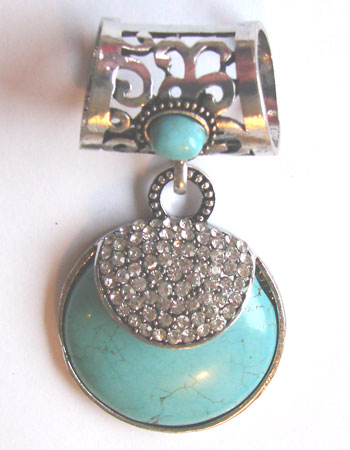 Turquoise Ball Scarf Ring
