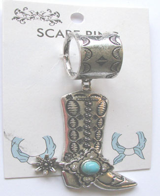 Western Boot Scarf Ring