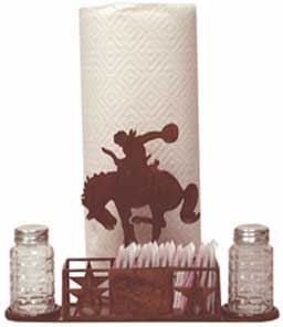 Bronco Horses Paper Towel Caddy