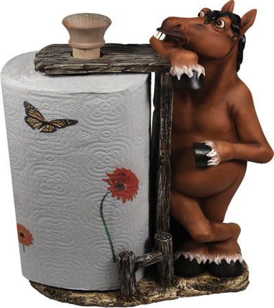 Standing Horse Paper Towel Holder