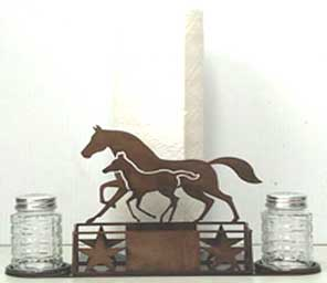 Trotting Horses Paper Towel Caddy