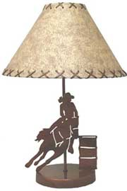 Barrel Racer Lamp