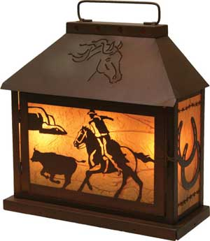 Cowboy Tin Table Light