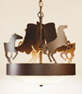 Horses and Boots Chandelier Light