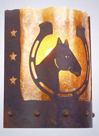 Horseshoe Sconce Light