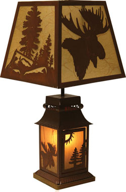 Moose Tin Lamp