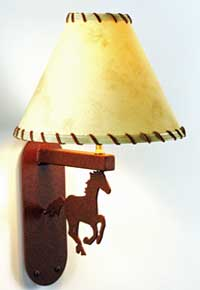 Running Horse Wall Lamp